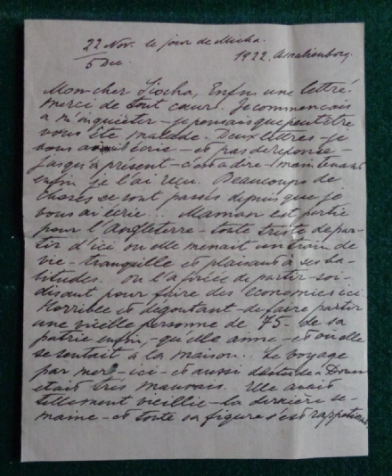 Antique Signed Letter Grand Duchess Olga Romanov Russia Thormeyer 1922 Dagmar